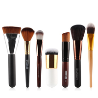 LEARNEVER 7 Pcs Pro Makeup Brushes Foundation Blush Eye Shadow Makeup Brushes High Quality Nylon Hair