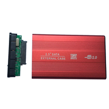 Высокая скорость внешней USB 2,0 на жесткий диск SATA 2,5 «дюймовый адаптер для жесткого диска красный алюминиевый сплав корпус коробка для ПК компьютера