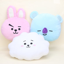 BTS BT21 plush Pillow TATA SHOOKY CHIMMY COOKY MANG Plush Toy Kpop BTS Pillow Doll Cushion gifts(China)