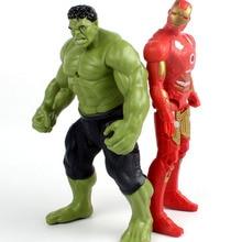 Hot Avengers Incredible Hulk Iron Man Hulk Buster Age Of Ultron Hulkbuster 18CM PVC Toys Action Figure Hulk Smash