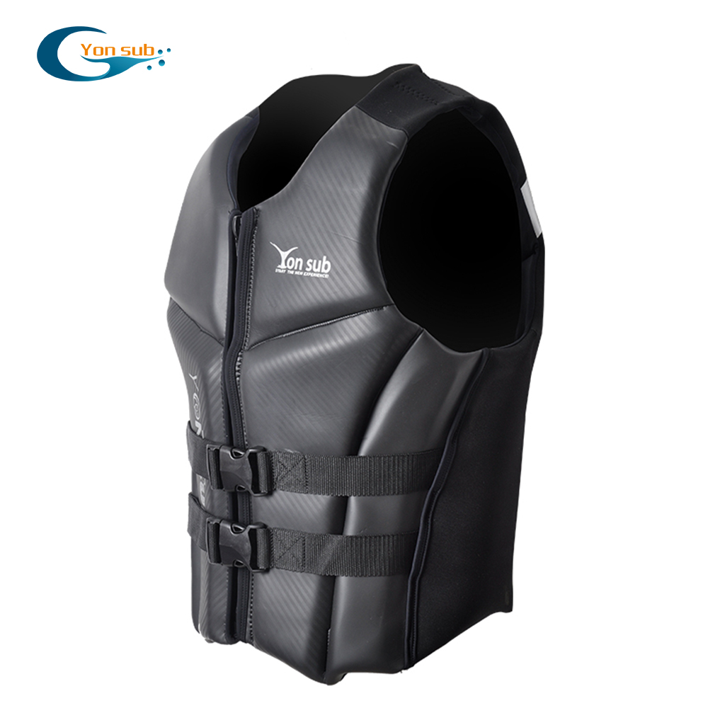 YONSUB Neoprene Life Jacket Vest Men Fishing Life Jacket Rescue Boating Drifting Surfing Life Vest Water
