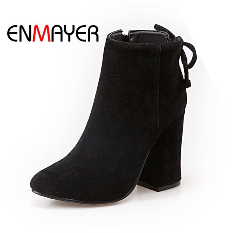 13dc45adea130d Nouvelle Enmayer Talon Casual Peluche 43 Why155 black Femme Zip 34 gray  Spike Chaussures Noir Dames En Boucle Taille ...