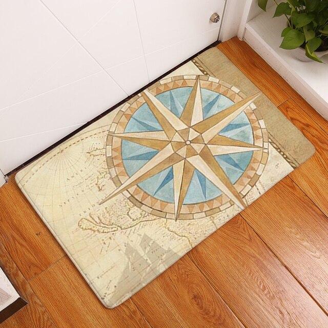 Nouveau tapis anti dérapant coquilles de mer imprimer tapis salle de ...