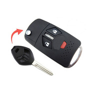 Brand ModIfied Replacement asx Housing Shell Folding Remote Blank Key Case Fob 2+1 Button For MITSUBISHI ECLIPSE ENEAVOR LANCER