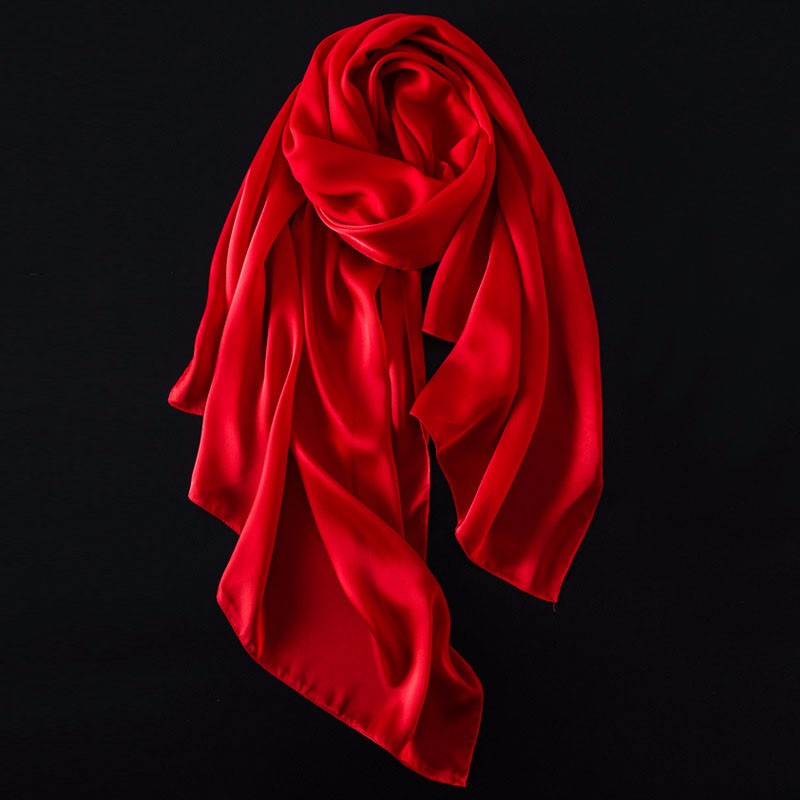 Solid Color Silky Scarf | Lightweight Scarves