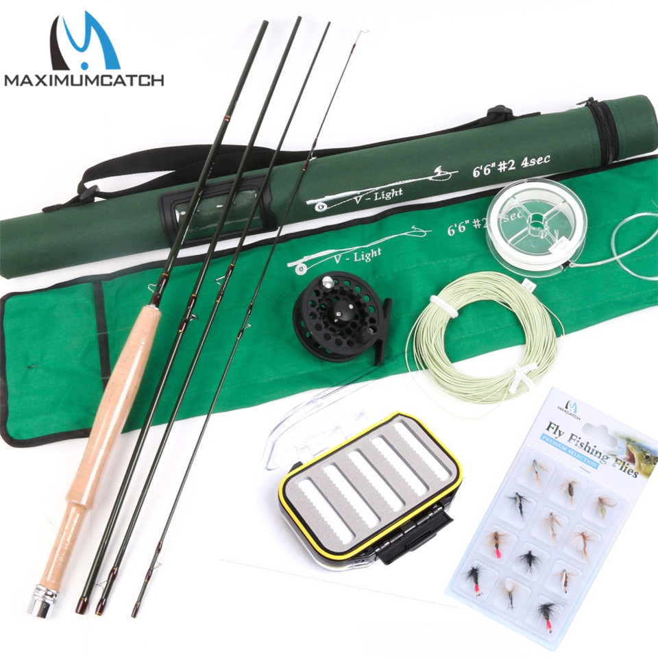 Maximumcatch High Quality Fly Fishing set include Line, Reel and Rod Mid-Fast Super Light Fly Fishing Rod Combo point break pq 4c wd high quality elastic rod cork handle portable rod strong sensitive sea rod fishing gear fast transport