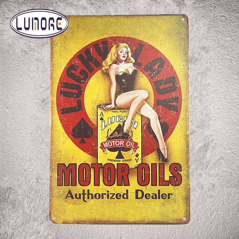 American Dream USA Motorcycle Tin signs Pin Up Girl Metal Garage ...