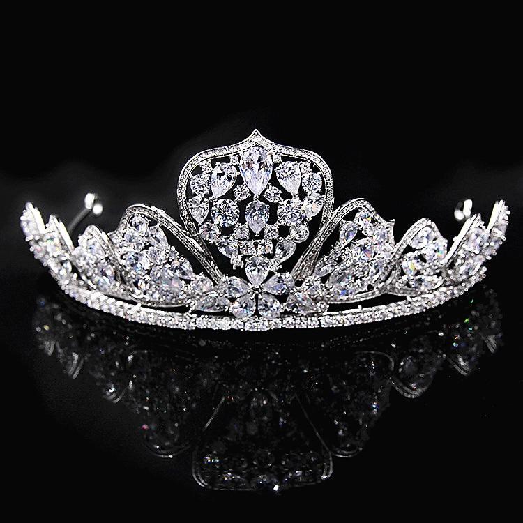 Здесь продается  Paved CZ Crown Cubic Zircon Tiara Princess Tiaras Wedding Hair Accessories Bride Hair Jewelry Bijoux Cheveux Coroa WIGO1089  Ювелирные изделия и часы