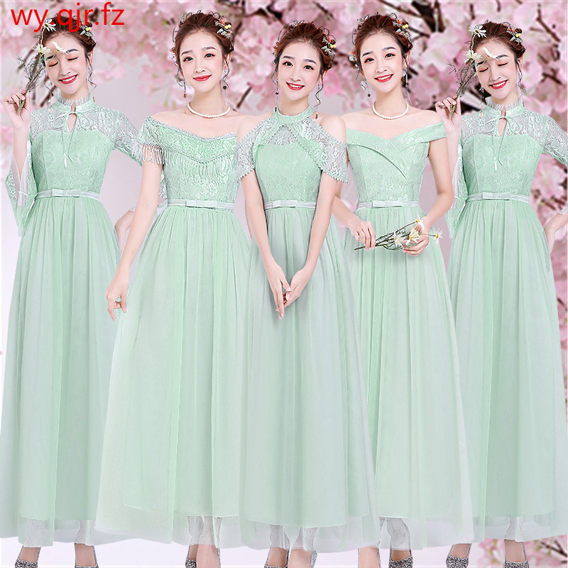 ZX-A#7 Colours And 5 Styles Green Pale Mauve Bridesmaid Dresses Long Royal Blue Wedding Party Dress Wholesale Women's Clothing