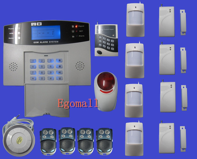 Security Guard Wireless Intelligent Mobile Call GSM Burglar Alarm System Auto-Dial Listen in on site EMS free shipping   S213