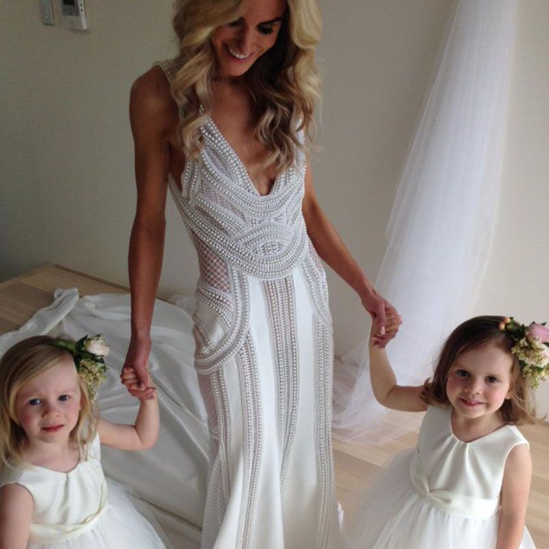Luxury Pearls Long Glitter Mermaid Gowns Stone Great Gatsby Prom ...