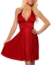 free shipping 2013 bridesmaid red dress New Flattering Halter Marilyn inspired Evening Bridesmaids gown cocktail Dress