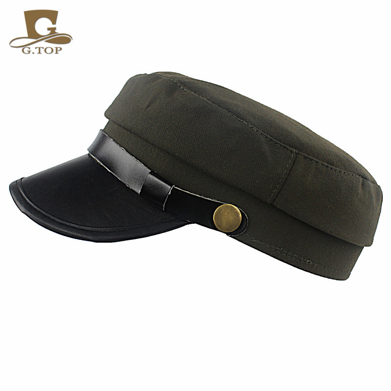 Cotton Military Hats for Men Women Sun Visor Army Flat Top hats Military  Soldier Hat Vintage cadet Hat G 267-in Boys Costume Accessories from  Novelty ... 7a378acd2e5