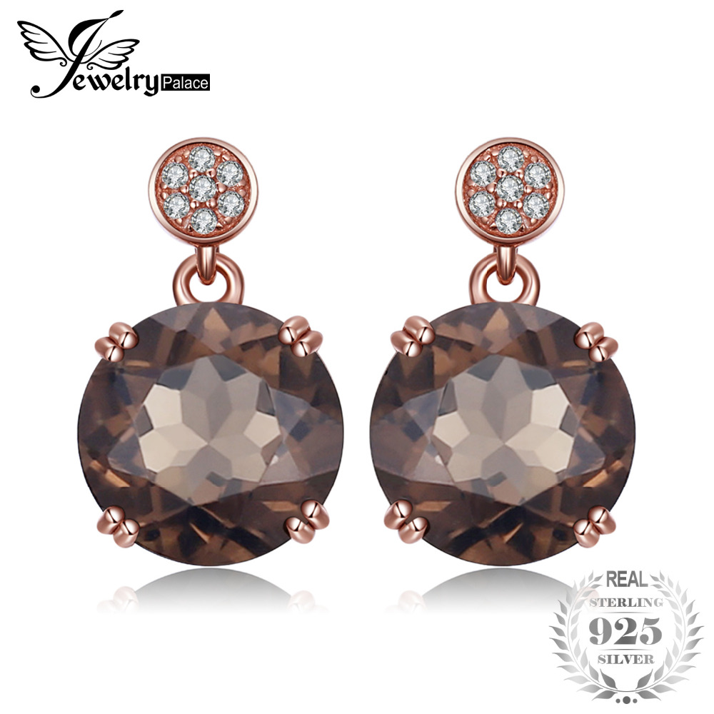 Jewelrypalace Graceful 7ct Genuine Smoky Quartzs Drop Earrings 925 Sterling Silver Hot Selling Nice Gifts For Mother/Women/Wife pair of graceful alloy pentagram earrings for women