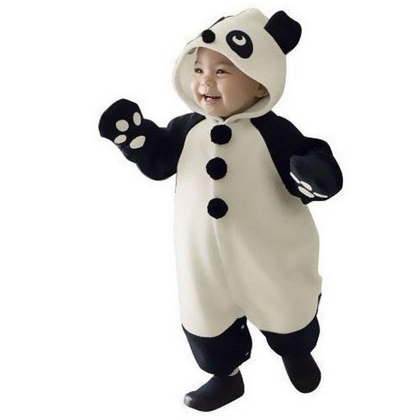 3PCS/ lot Baby Panda Romper Infant Cute Animal Character Baby Romper Clothing With Cap Panda Baby Jumpsuit Gift Free Shipping