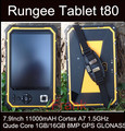 Оригинал Rungee T80 Tablet PC 8 Inch 11000 мАч Rugged tablet PC Qude Core 1.5 ГГц 1 ГБ/16 ГБ Dropproof Водонепроницаемый Сотовый телефон ip67