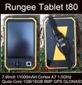 Original Rungee T80 Tablet PC de 8 Pulgadas 11000 mAH tablet PC Robusta Qude Core 1.5 GHz 1 GB/16 GB Dropproof Impermeable ip67 teléfono Celular