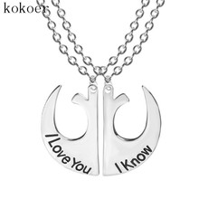 Fashion Jewelry Pendant  Couple Necklace stainless steel chain long chokers heart necklaces for women Collar ras the neck joyas