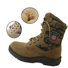 Warm and wear-resistant winter wool sheepskin mens snow boots casual warm Leather shoes Western