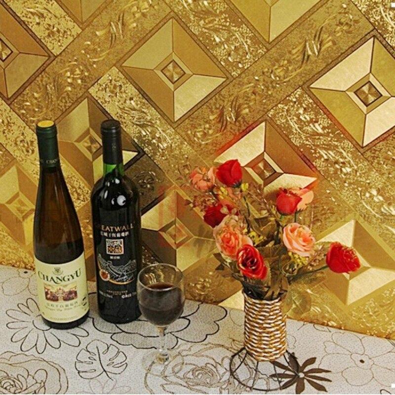 ФОТО Beibehang 3 d PVC wall paper gold foil wallpaper bedroom living room sofa, home decoration wallpaper for walls 3 d