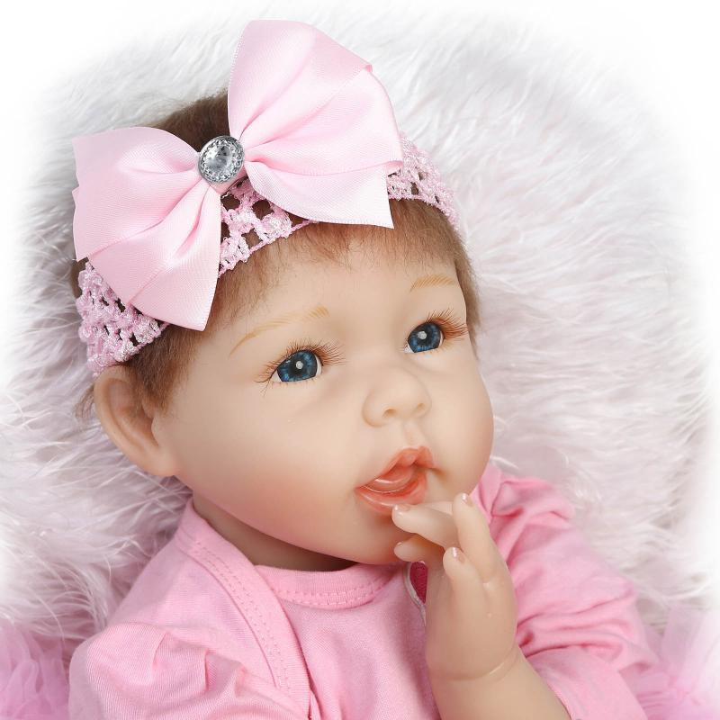 BeBe Reborn 22inch Soft Silicone Reborn Doll 55CM Infant Doll Lifelike Realistic Baby Dolls Toys Brinquedos For Birthday Gift