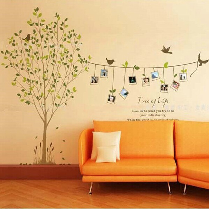 Combination of Free shopping sticker living room bedroom creative ...
