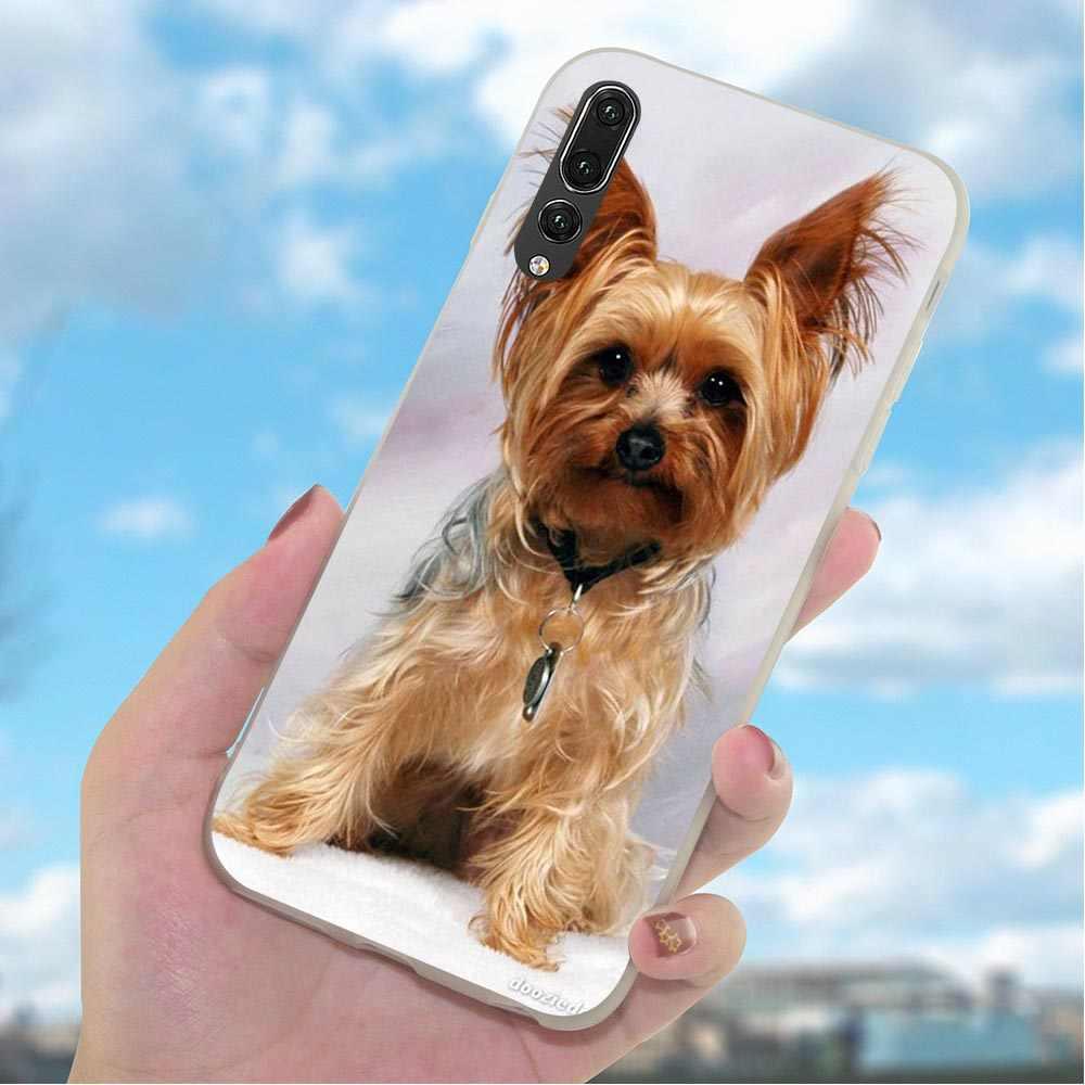 Molle di TPU Yorkshire cucciolo di cane Caso Della Copertura Del Telefono per Huawei Compagno di 20 10 Pro P8 P20 P30 P10 P9 Lite mini P Smart Modello