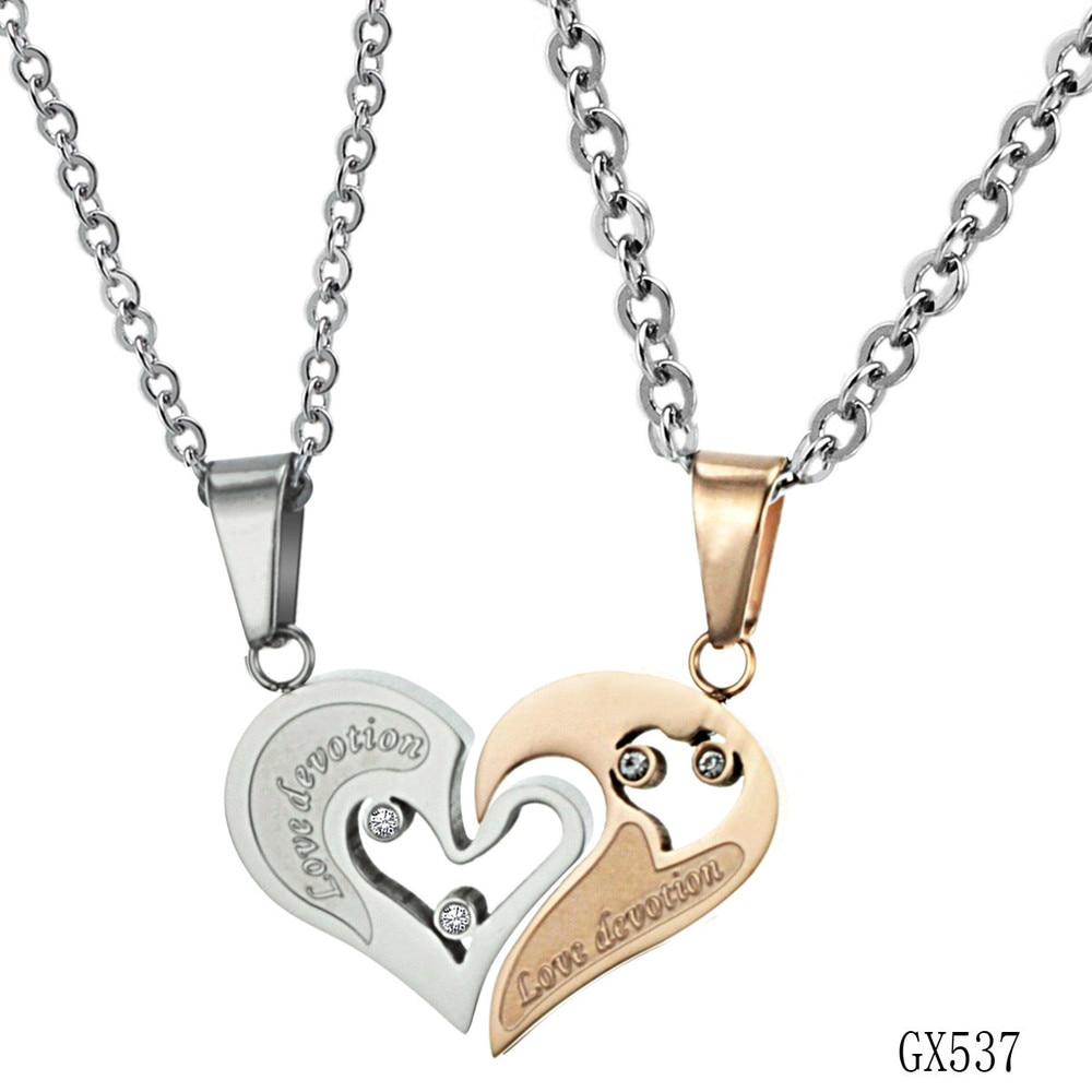 4c0a403b45 Korean Couple Necklace Titanium Necklaces Pendants Cute Necklaces For  Couples Matching Necklaces For Couples GX537