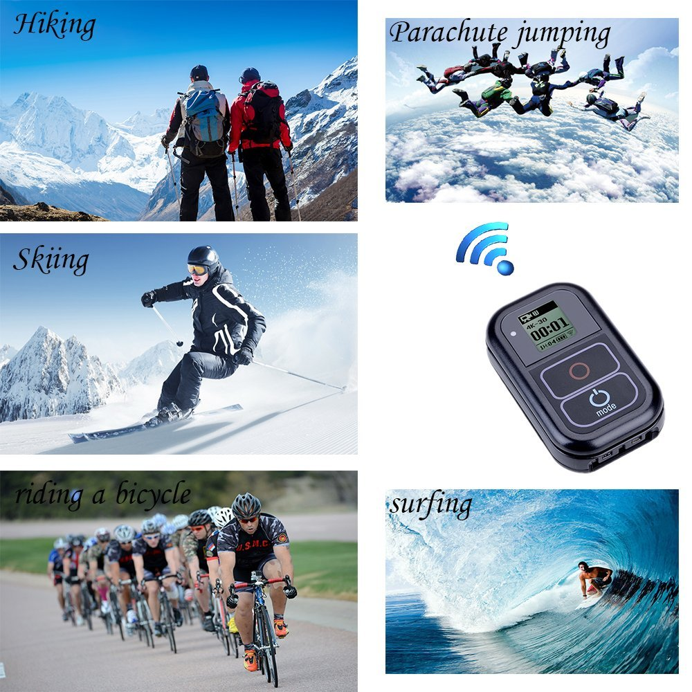 Image 5 - Go Pro WiFi Remote Control+Charger Cable Wrist Strap Waterproof GoPro Remote Case for Hero 7 6 5 Black 4 session 3+Accessory-in Sports Camcorder Cases from Consumer Electronics