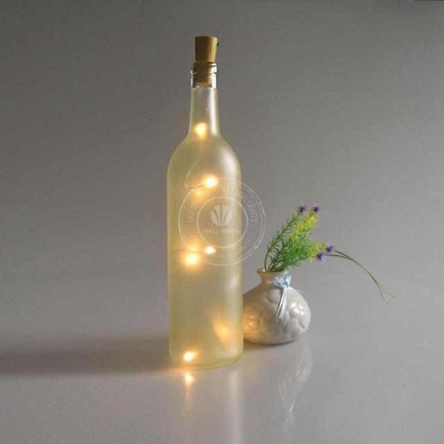 2017 Newest Led Starry String Lights Wine Cork Led Lights For Winebottle/glass  Bottle Decoration