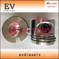 Para caterpillar e320 máquina escavadora reparação do motor c7.1 pistão e anel de pistão injeção direta|piston ring|pistons and rings|repair fors -