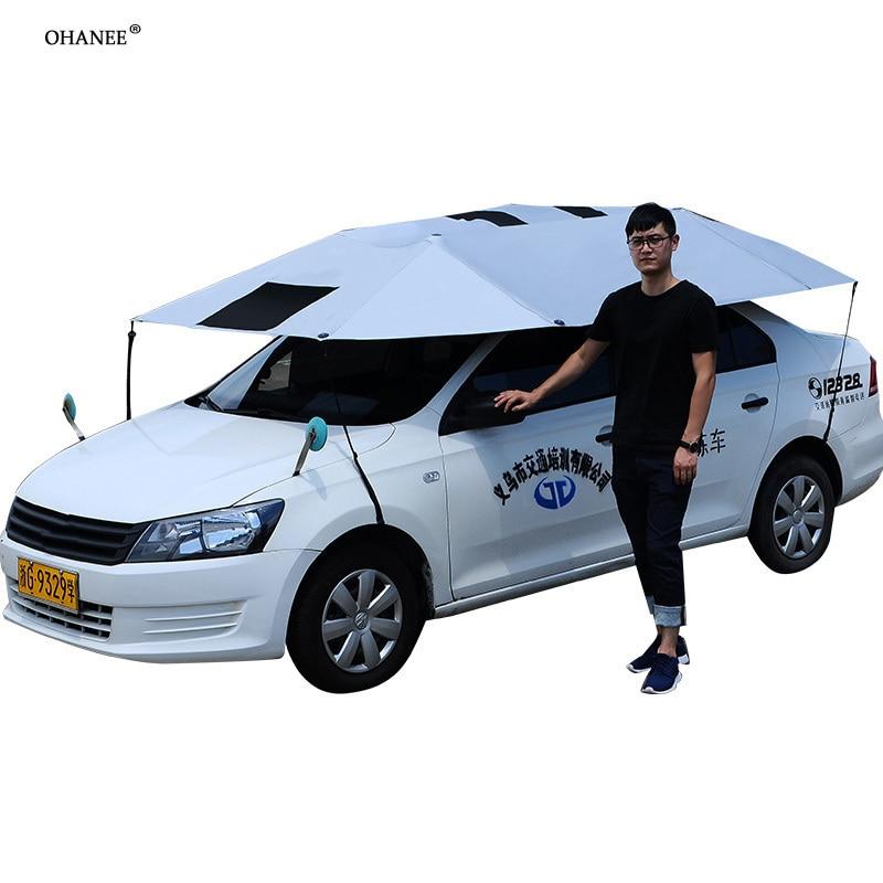 OHANEE 2018 nouveau 5nd Génération Voiture Toit Parapluie Parasol Isolation Couverture de voiture Stonger Plus Audacieux Étendu 330x270 cm