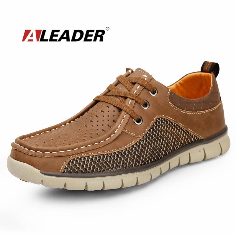 Verano Hombre 2015 Para Zapatos De Cuero Transpirable YnAx74wA