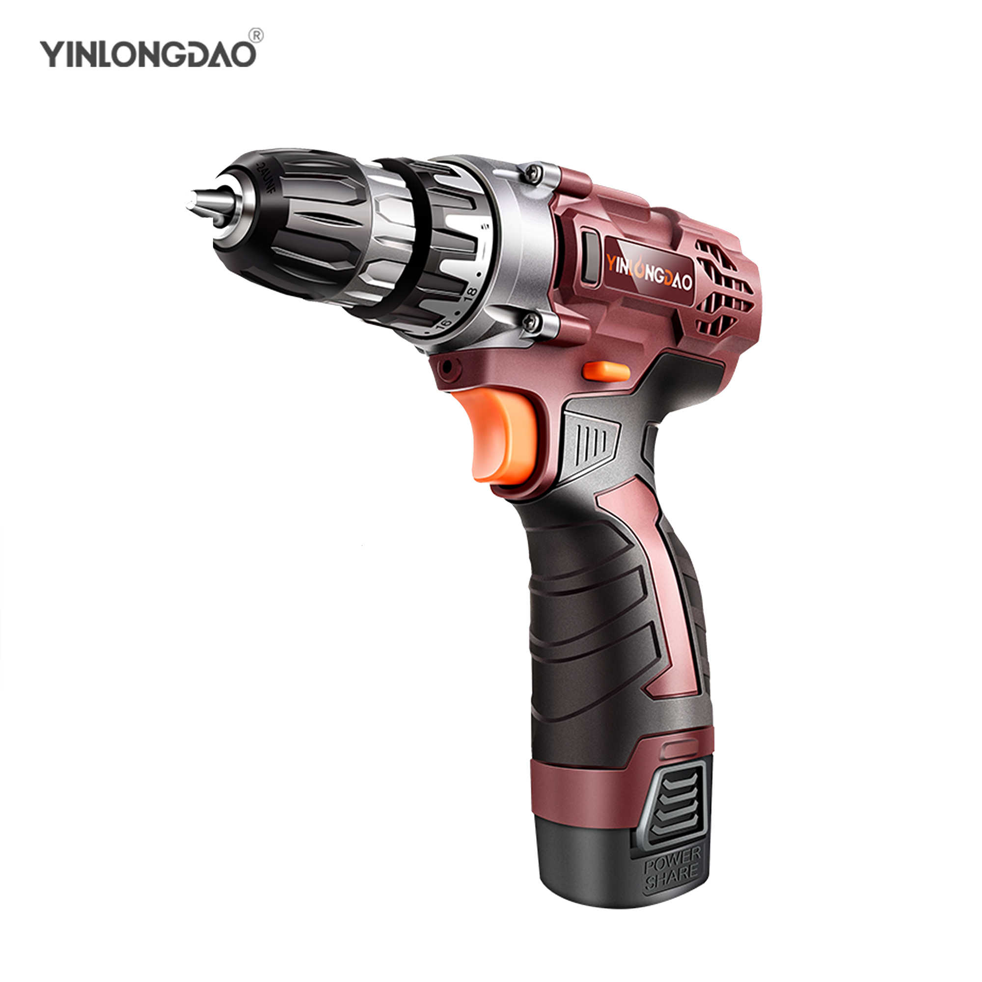 12V 18V 21V Cordless Drill Electric Screwdriver Mini Wireless Power Driver DC Lithium-Ion Battery
