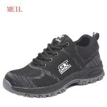 Fashion Unisex Steel Toe Safety Shoes Outdoor Work Anti-smashing Anti-piercing Man Boots Working Men Sneakers