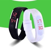 2016 New Sports Bracelet LED Watch  Sport Watch Fashion Digital Watch Date Time Men Wristwatch Waterproof Colorful Rubber Band