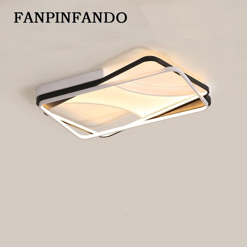 Новый дизайн Алюминиевый светодио дный современный светодиодный потолочный светильник для гостиной спальни plafсветодио дный On LED Домашнее