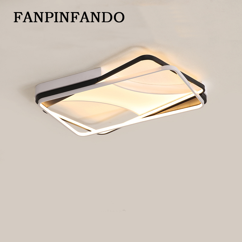 New Designed aluminum Modern Led ceiling lights for living room Bedroom Plafon Led Home Lighting Ceiling Lamp AC85-265V new safurance 15w led infrared pir sensor ceiling mount lamp light ac110 265v for room building automation home security