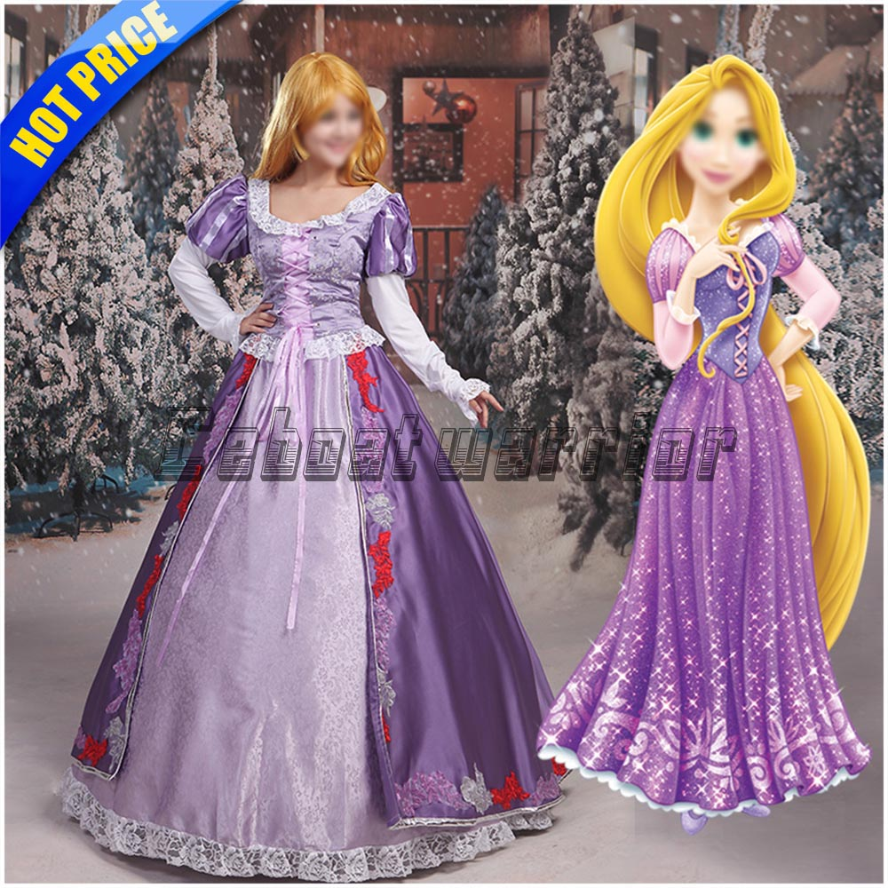 Movie Tangled cosplay  Rapunzel costume Princess Rapunzel Dress for adults women Custom made