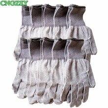 10 пар нейлоновые рабочие перчатки Серые защитные антистатические карбоновые перчатки для обертывания окон автомобиля установочные перчатки 10D08