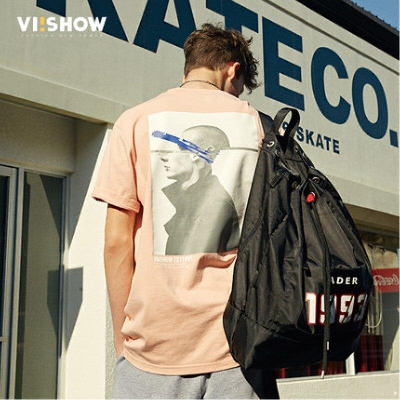 VIISHOW caractère imprimé à manches courtes t-shirts hommes 2018 mode d'été Hip Hop décontracté couverture en coton t-shirts Streetwear TD1214182