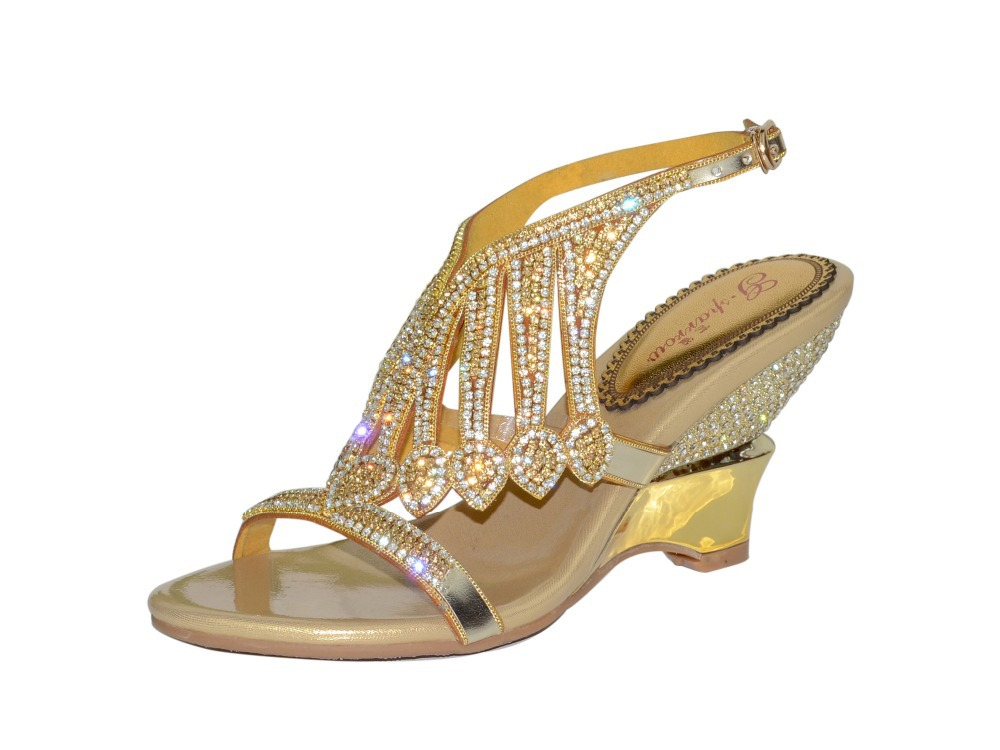 Buy low price, high quality gold heels wedge with worldwide shipping on report2day.ml