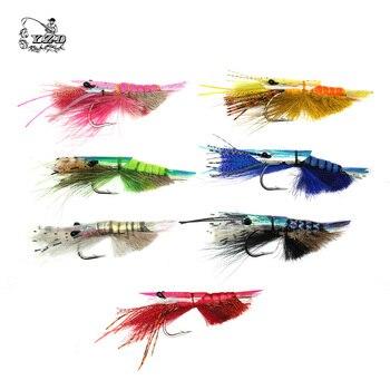 Craw Shrimp Bonefish Flies Assortment 7Pcs Size 5/0 # Crawfish Fly Collection Saltwater Fly Fishing Lure Set  Рыбная ловля