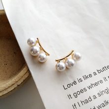 2019 New Geometric Imitation Pearl Clip Earrings No Ear Hole Fashion Elegant Strips Clips on Earring Without Piercing for Women(China)