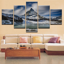 Landscape Prints Modern HD Modular Pictures Canvas Poster Framework Snow Mountain Painting Decor Living Room Wall Art Or Bedroom(China)