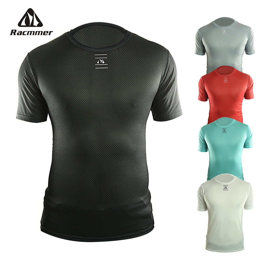 Racmmer Pro 2020 Bike Cool Mesh Superlight Cycling Base Layers Bicycle Short Sleeve Shirt Highly Breathbale Underwear Jersey