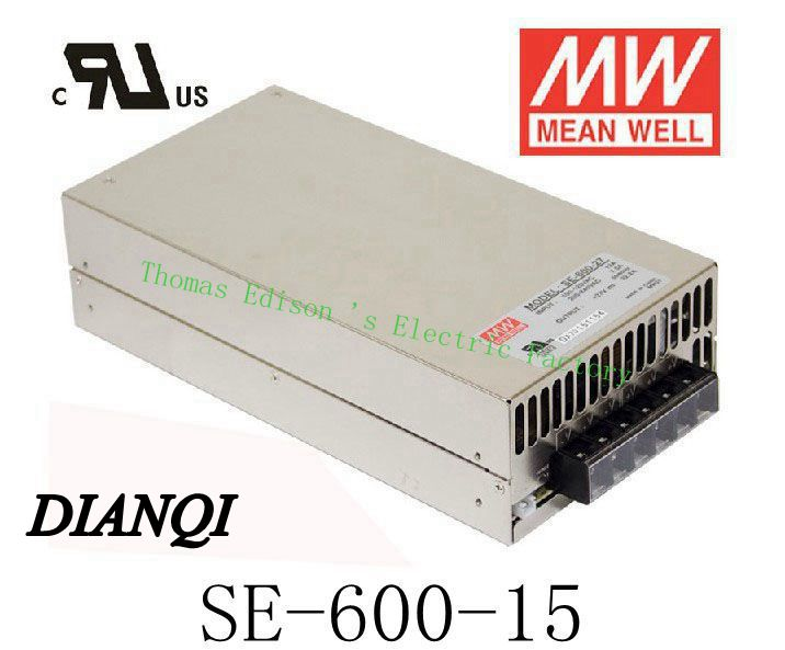 Original MEAN WELL power suply unit ac to dc power supply600W 15V 40A MEANWELL  SE-600-15 meanwell 12v 350w ul certificated nes series switching power supply 85 264v ac to 12v dc