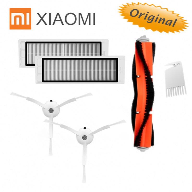 Original Xiaomi Robot Vacuum Part Pack Of HEPA Filter, Main Brush, Cleaning Tool, Side Brush For Mijia / Roborock Vacuum Cleaner