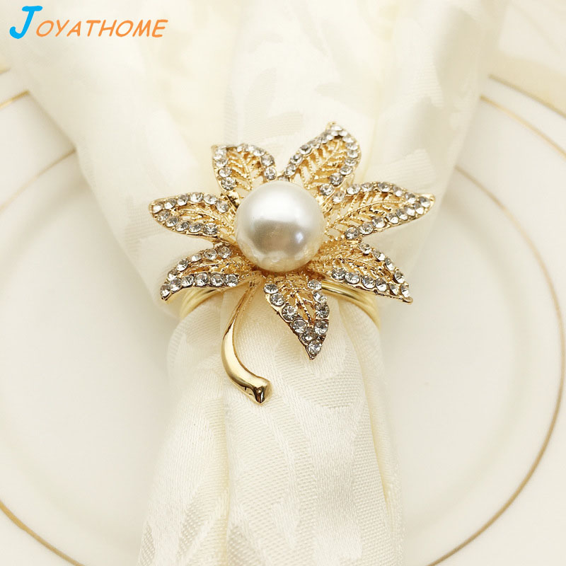 Joyathome maple leaf napkins rings silver rhinestone for Farfalle decorative per muri