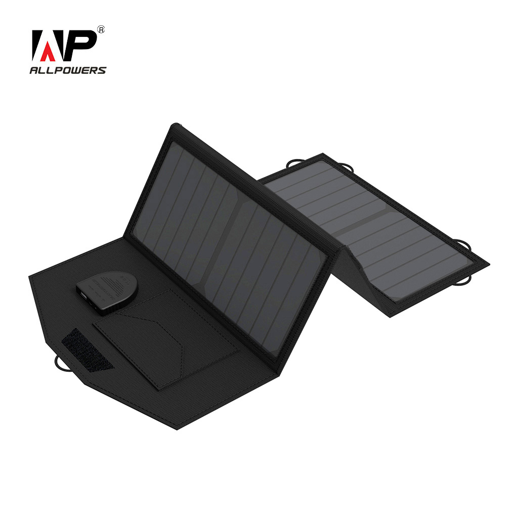 ALLPOWERS 5V 12V 18V Solar Panel Battery Charger Portable SunPower Solar Charger for iPhone Samsung iPad